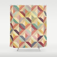 geo Shower Curtains featuring Geo by Hooray Creative