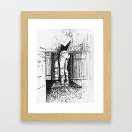 Love kitchen  Framed Art Print