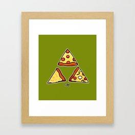 TriPizza Framed Art Print