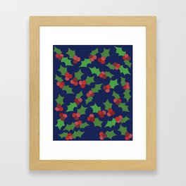 Holly Jolly Christmas Framed Art Print