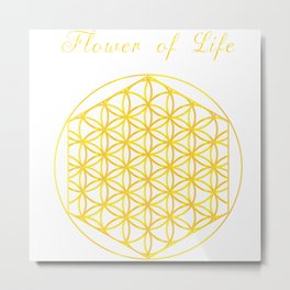 Flower of Life by TinyTini Metal Print
