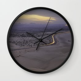 Imperial Sand Dunes Wall Clock