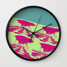 Postcard From Rio Wall Clock