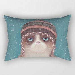 Under snow Rectangular Pillow