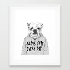 Same shit... Framed Art Print