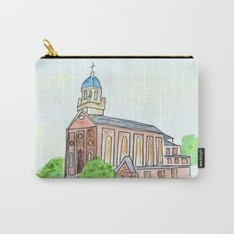 University of Dayton watercolor, UD Chapel, Dayton, OH Carry-All Pouch