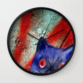 Gordon The Graffiti Cat Wall Clock