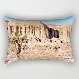 Cactus in the desert with blue sky Rectangular Pillow