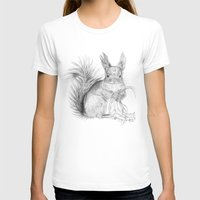 squirrel T-shirts featuring Squirrel by Ora Kolmanovsky