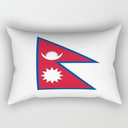 flag of nepal-nepal,buddhism,Nepali, Nepalese,india,asia,Kathmandu,Pokhara,tibet Rectangular Pillow