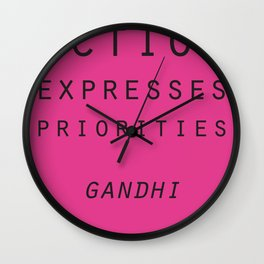 Action Gandhi Quote Wall Clock
