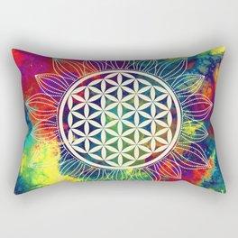 Flower Of Life (Lively World) Rectangular Pillow