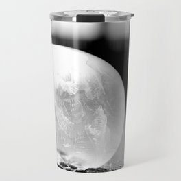 Black and White Frozen Bubble Travel Mug