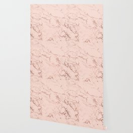 Modern rose gold glitter ombre foil blush pink marble pattern Wallpaper