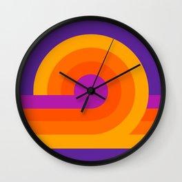Purple Looper Wall Clock