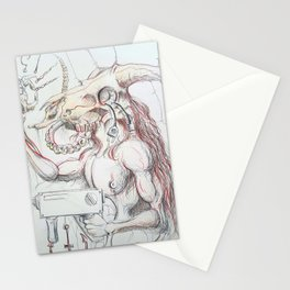 Minotaur with drill Stationery Cards