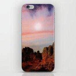 Moonrise over the Pallisades iPhone Skin