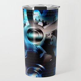 Binary code machine Travel Mug