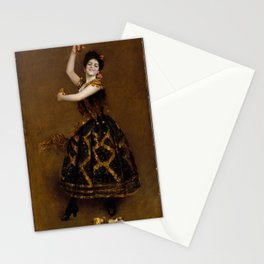 Carmencita by William Merritt Chase - Vintage Victorian Retro Fine Art Oil Painting Stationery Cards
