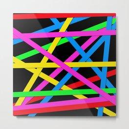 Day-Glo Stripes Metal Print