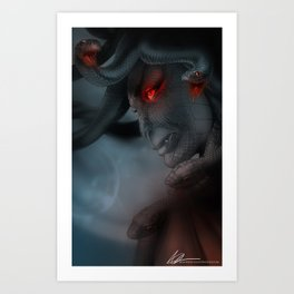 Medusa's Lament, the Eye of the Gorgon Art Print