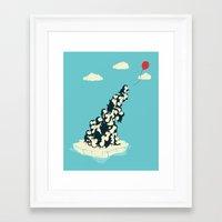 balloon Framed Art Prints featuring Balloon! by Jay Fleck