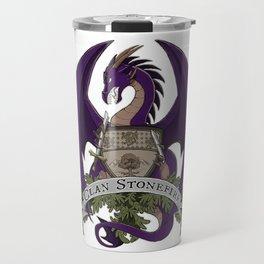 Clan Stonefire Crest - Purple Dragon Travel Mug