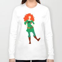 merida Long Sleeve T-shirts featuring Merida by Eva Duplan Illustrations