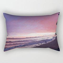 Maui Sunset Pixel Sort Rectangular Pillow