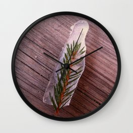 Green in Ice Wall Clock