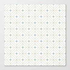 Mint Diamonds Canvas Print