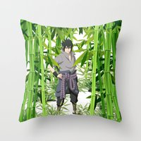sasuke Throw Pillows featuring Sasuke by tanduksapi