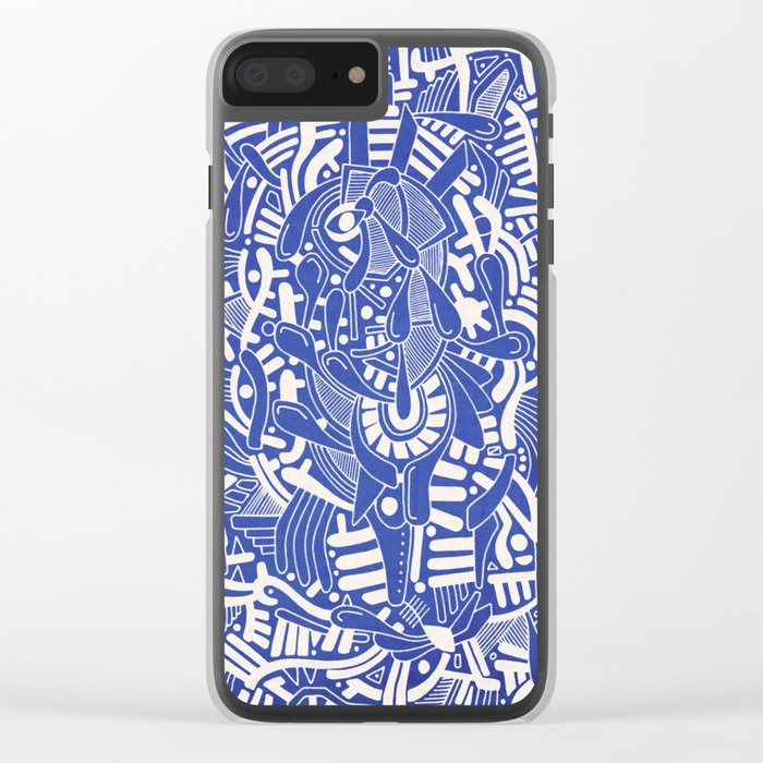- captain lost in blue - Clear iPhone Case