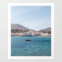The Red Boat - Cadaques, Catalunya Art Print