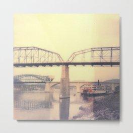 Chattanooga Bridge Polaroid Metal Print