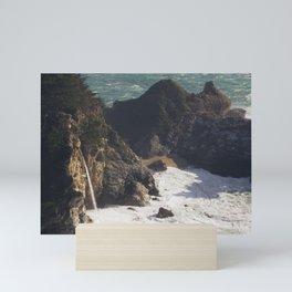 Sea foam and secret waterfalls Mini Art Print