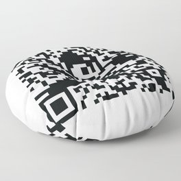 Mega Man QR Code 8-Bit Art Floor Pillow