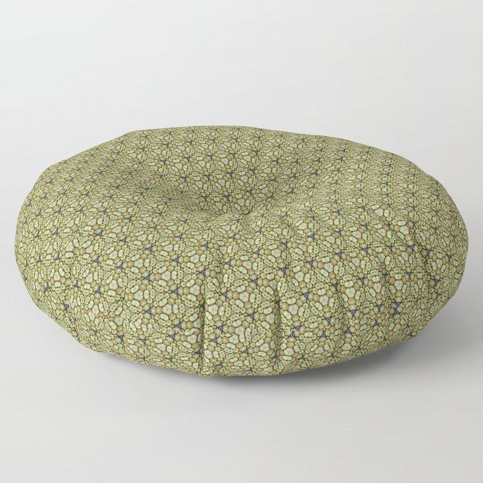 Yellow Apples Pattern Floor Pillow