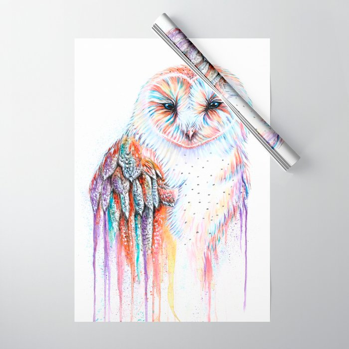 Colorful Owl Wrapping Paper