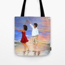 Dancing at the Beach Tote Bag