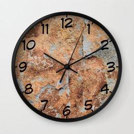 Shale rock surface texture Wall Clock