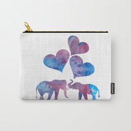 Elephants art Carry-All Pouch