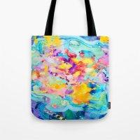 bubblegum Tote Bags featuring bubblegum  by Lara Gurney