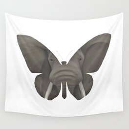 Elephant Butterfly Wall Tapestry
