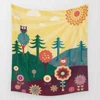 sunshine Wall Tapestries featuring Sunshine by Kakel