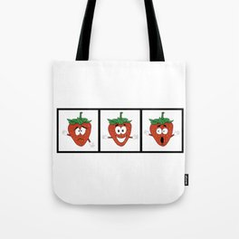 The Many Faces of Daryll Strawberry - An Emotional Strawberry Tote Bag