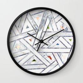 Deco Jeweled Marble Wall Clock