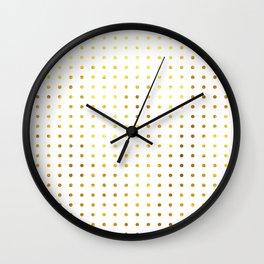 Golden Spots Wall Clock