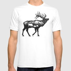 ELK White LARGE Mens Fitted Tee
