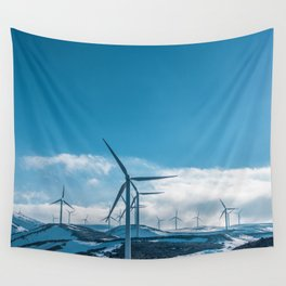 The Wind Farm (Color) Wall Tapestry